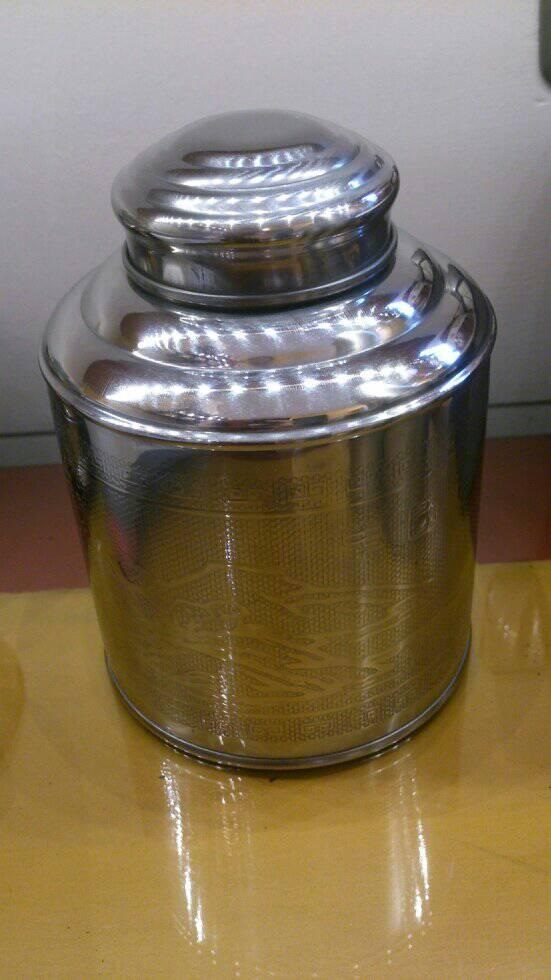 barattolo acciaio latta confezione regalo metallo arredo