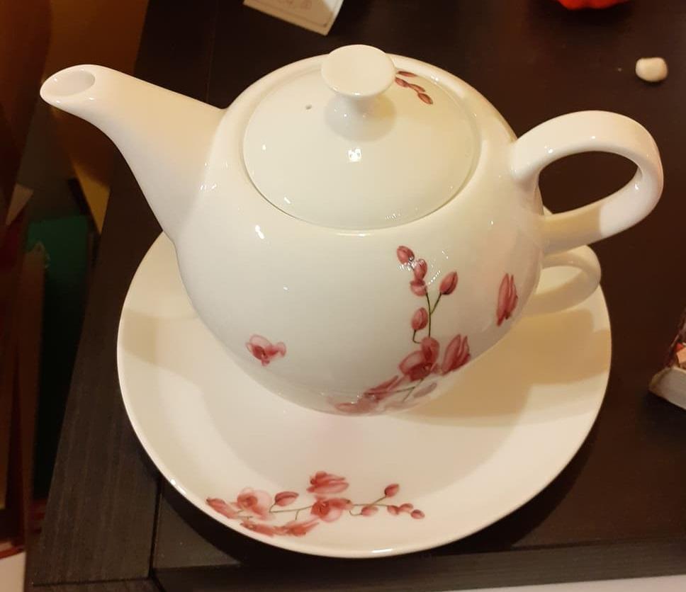 "Tea-for-one teiera tazza porcellana bone china ""teiera inglese"""