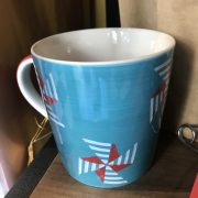 """Tazza blu blue mug tazzona 400 ml colazione regalo tè """"tazza da tè"""""""